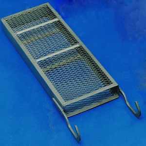 Anode baskets isolated crop